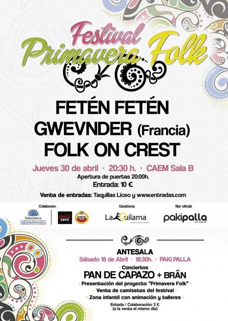 Festival primavera folk cartel 1